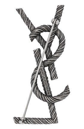 брошь SAINT LAURENT серебряного цвета, арт. 635511/Y1500 | Фото 2