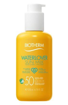Женский солнцезащитное молочко для лица и тела waterlover sun milk spf 50 BIOTHERM бесцветного цвета, арт. 3614271701510 | Фото 1