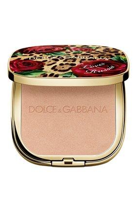 Женская универсальная пудра-хайлайтер dg loves russia DOLCE & GABBANA бесцветного цвета, арт. 3124350DG | Фото 1