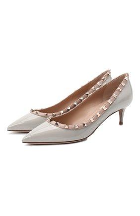 Женская кожаные туфли valentino garavani rockstud VALENTINO серого цвета, арт. UW2S0V22/VNW | Фото 1