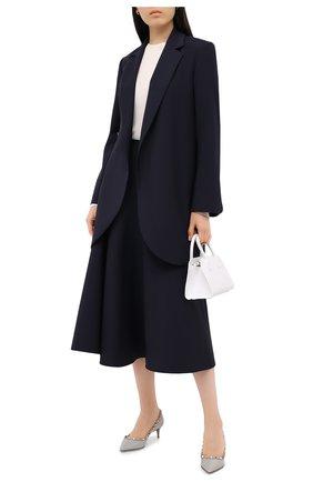 Женская кожаные туфли valentino garavani rockstud VALENTINO серого цвета, арт. UW2S0V22/VNW | Фото 2