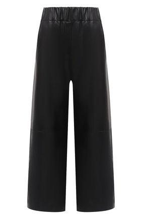 Женские кожаные брюки LOEWE черного цвета, арт. S359331XBG | Фото 1