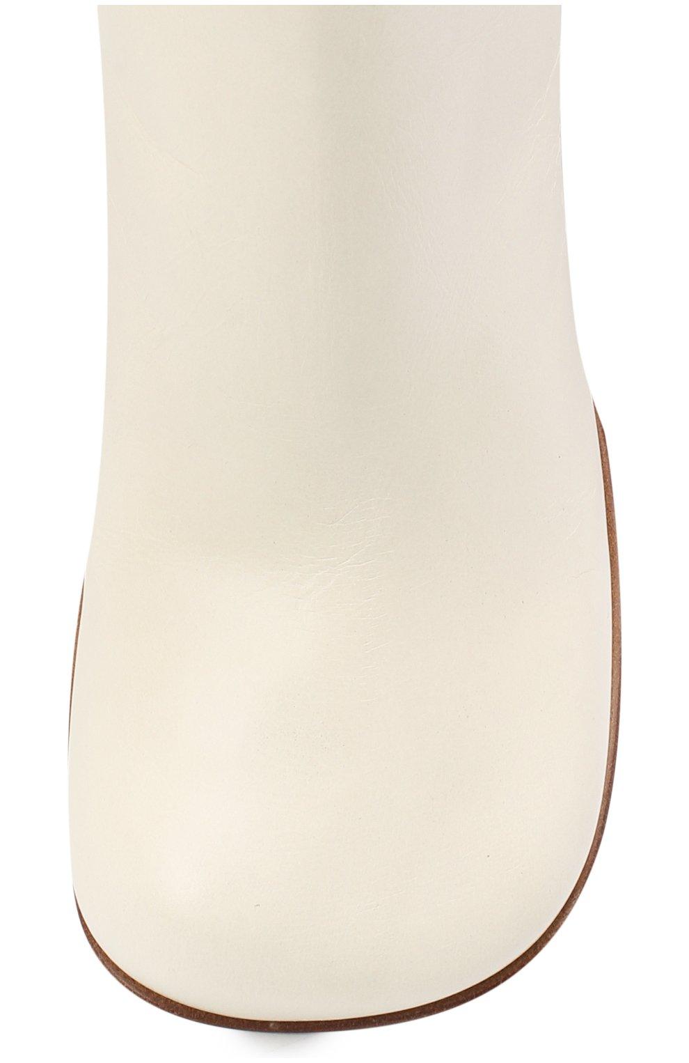 Женские кожаные ботильоны BOTTEGA VENETA кремвого цвета, арт. 578331/VBPJ0   Фото 5