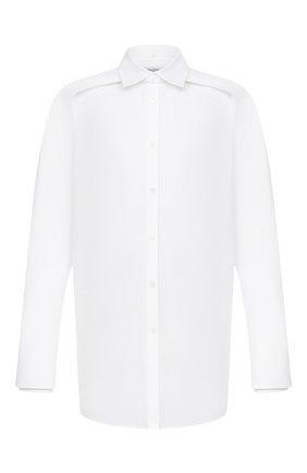 Мужская хлопковая рубашка VALENTINO белого цвета, арт. UV3ABE954WW | Фото 1