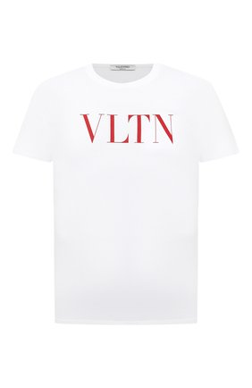Мужская хлопковая футболка VALENTINO белого цвета, арт. UV3MG10V3LE | Фото 1