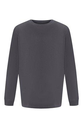 Мужская хлопковый лонгслив BOTTEGA VENETA темно-серого цвета, арт. 625983/VF1U0 | Фото 1