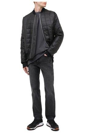 Мужская хлопковый лонгслив BOTTEGA VENETA темно-серого цвета, арт. 625983/VF1U0 | Фото 2