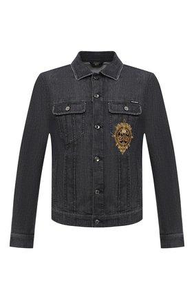 Мужская джинсовая куртка DOLCE & GABBANA темно-серого цвета, арт. I9JC2Z/G8DJ7 | Фото 1