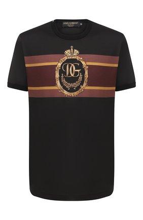Мужская хлопковая футболка DOLCE & GABBANA черного цвета, арт. I8445M/HI7FF | Фото 1