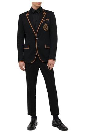 Мужской хлопковые брюки DOLCE & GABBANA черного цвета, арт. I3709Z/FUFJR | Фото 2