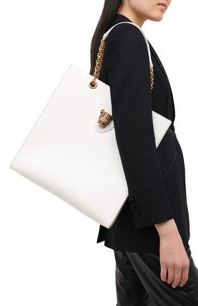 Женская сумка-тоут jungle DOLCE & GABBANA белого цвета, арт. BB6859/AW012 | Фото 2