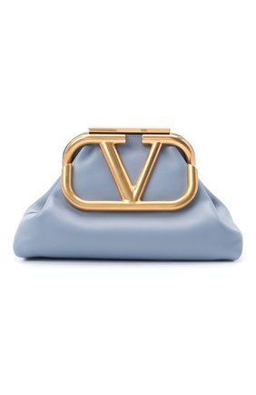 Женский клатч valentino garavani supervee medium VALENTINO голубого цвета, арт. UW2B0H12/BMP | Фото 1
