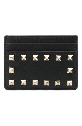 Женский кожаный футляр для кредитных карт valentino garavani VALENTINO черного цвета, арт. UW2P0486/B0L | Фото 1