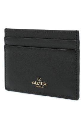 Женский кожаный футляр для кредитных карт valentino garavani VALENTINO черного цвета, арт. UW2P0486/B0L | Фото 2