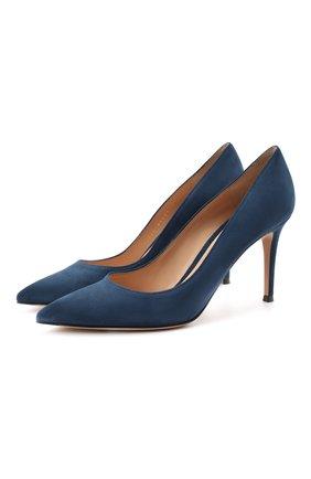 Женские замшевые туфли gianvito 85 GIANVITO ROSSI темно-синего цвета, арт. G24580.85RIC.CAMMIDN | Фото 1