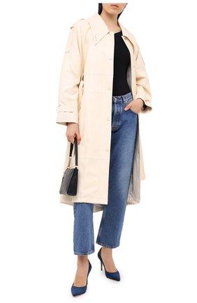 Женские замшевые туфли gianvito 85 GIANVITO ROSSI темно-синего цвета, арт. G24580.85RIC.CAMMIDN | Фото 2
