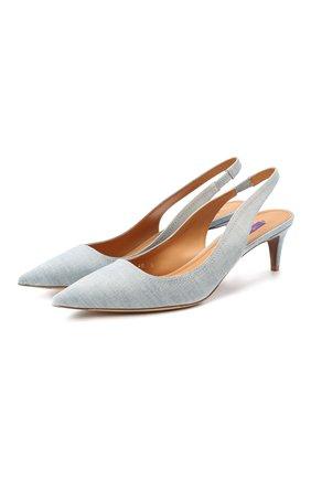 Женская текстильные туфли cleo RALPH LAUREN голубого цвета, арт. 800803149 | Фото 1
