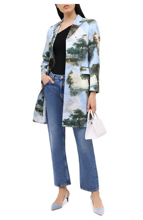 Женская текстильные туфли cleo RALPH LAUREN голубого цвета, арт. 800803149 | Фото 2