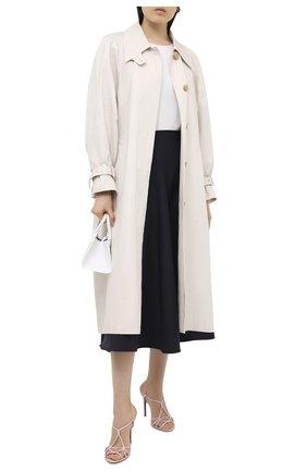 Женские кожаные босоножки bladine RALPH LAUREN светло-розового цвета, арт. 800803186   Фото 2 (Каблук высота: Высокий; Подошва: Плоская; Материал внутренний: Натуральная кожа; Каблук тип: Шпилька)