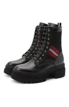 Женские кожаные ботинки BALLY черного цвета, арт. GI0IS/00 | Фото 1