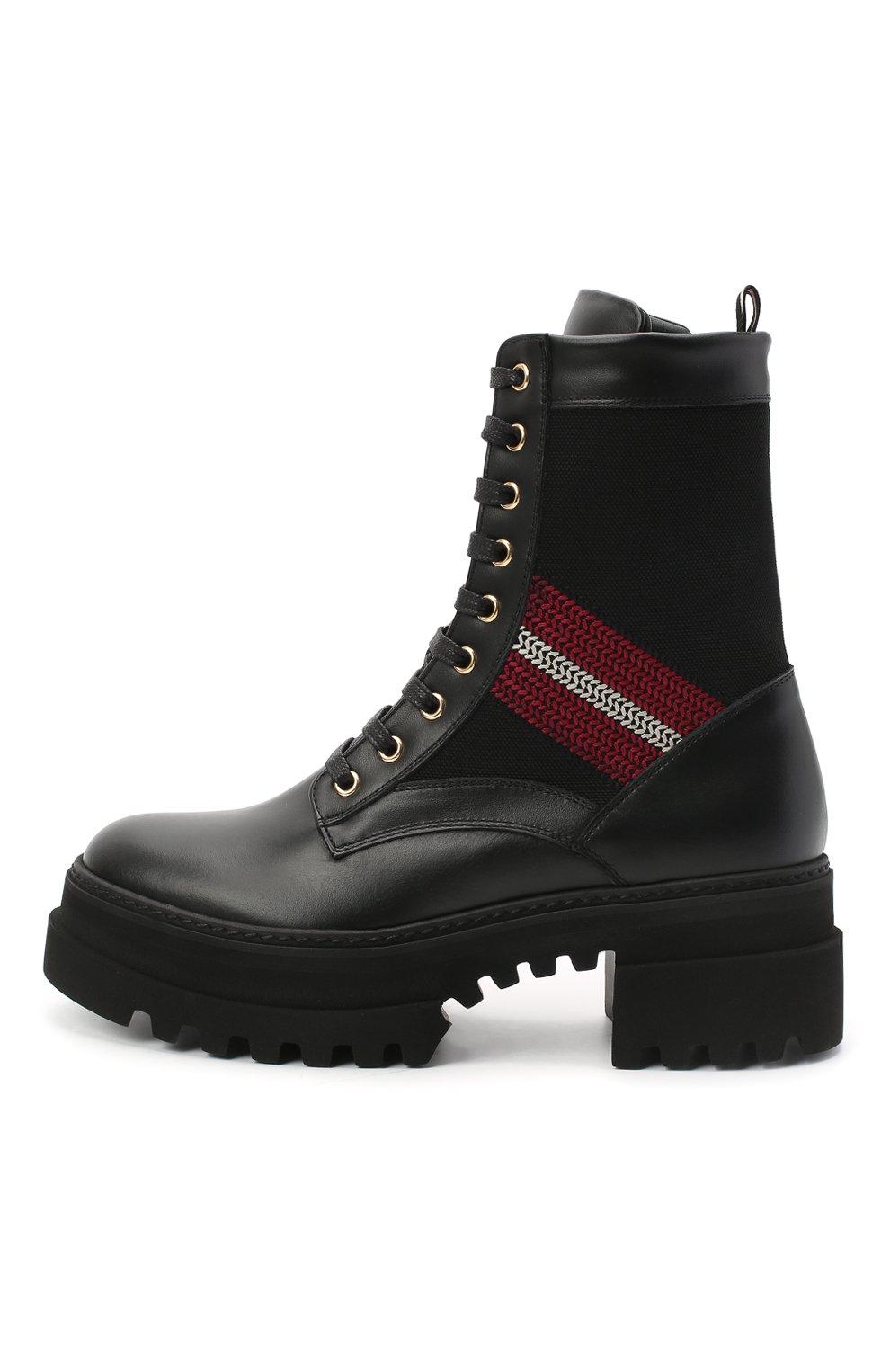 Женские кожаные ботинки BALLY черного цвета, арт. GI0IS/00 | Фото 3