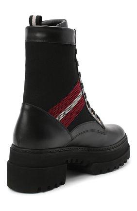 Женские кожаные ботинки BALLY черного цвета, арт. GI0IS/00 | Фото 4