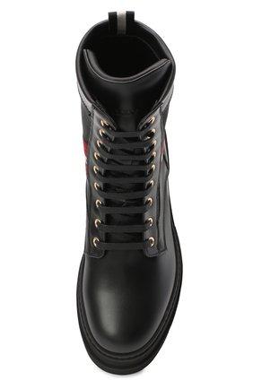 Женские кожаные ботинки BALLY черного цвета, арт. GI0IS/00 | Фото 5