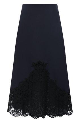Женская юбка-миди VALENTINO синего цвета, арт. UB3RA6H5360 | Фото 1
