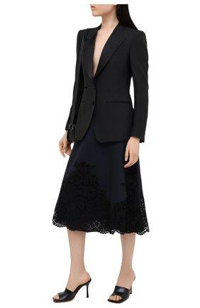 Женская юбка-миди VALENTINO синего цвета, арт. UB3RA6H5360 | Фото 2
