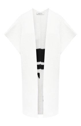 Женская шерстяная накидка VALENTINO черно-белого цвета, арт. UB3KSA055TK | Фото 1