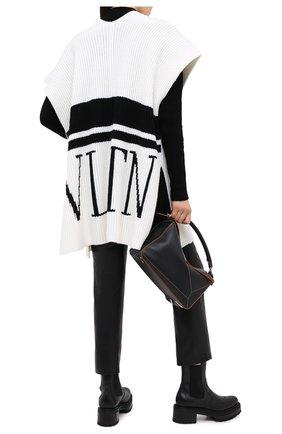 Женская шерстяная накидка VALENTINO черно-белого цвета, арт. UB3KSA055TK | Фото 2