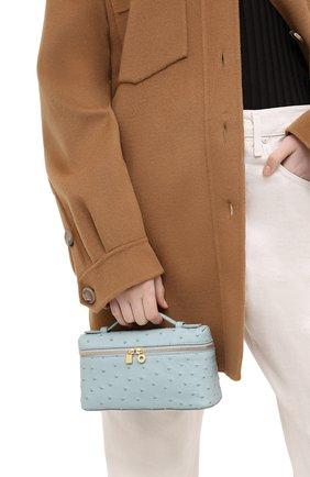 Женский клатч extra pocket l19 LORO PIANA голубого цвета, арт. FAL3240 | Фото 2