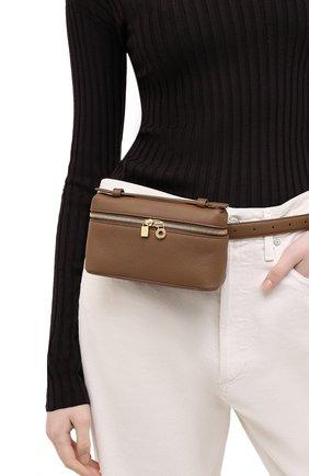 Женская поясная сумка extra pocket l16 LORO PIANA хаки цвета, арт. FAI8396   Фото 2