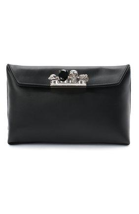 Женский клатч jewelled satchel ALEXANDER MCQUEEN черного цвета, арт. 631864/CSRWY | Фото 1