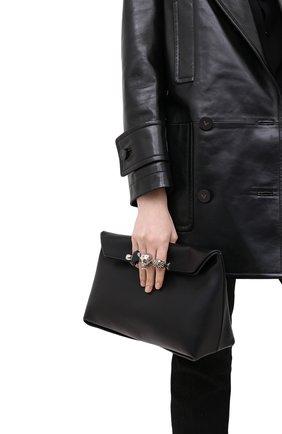 Женский клатч jewelled satchel ALEXANDER MCQUEEN черного цвета, арт. 631864/CSRWY | Фото 2