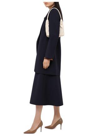 Женская кожаные туфли на шпильке LE SILLA бежевого цвета, арт. 2101M080R1PPMIN | Фото 2