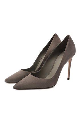 Женская замшевые туфли LE SILLA серого цвета, арт. 2101M090R1PPVEL | Фото 1