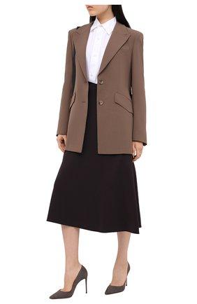 Женская замшевые туфли LE SILLA серого цвета, арт. 2101M090R1PPVEL | Фото 2