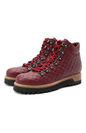 Женские кожаные ботинки LE SILLA бордового цвета, арт. 7508M040M1MMCHI | Фото 1