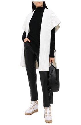 Женские кожаные ботинки LE SILLA белого цвета, арт. 7514P040M1MMCHI | Фото 2