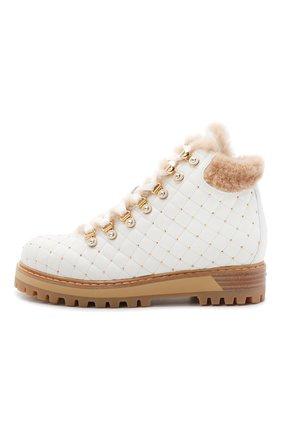 Женские кожаные ботинки LE SILLA белого цвета, арт. 7514P040M1MMCHI | Фото 3