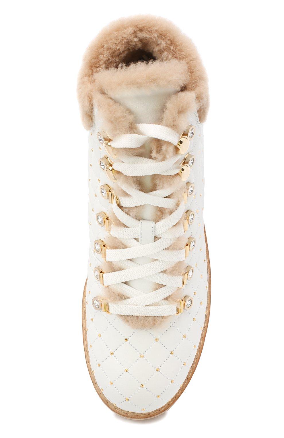Женские кожаные ботинки LE SILLA белого цвета, арт. 7514P040M1MMCHI | Фото 5