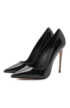 Женская кожаные туфли LE SILLA черного цвета, арт. 2101M100R1PPKAB | Фото 1