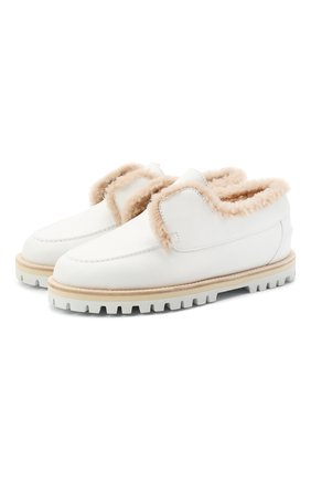 Женские кожаные ботинки LE SILLA белого цвета, арт. 6182R020M1MMCHI | Фото 1