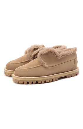 Женские замшевые ботинки LE SILLA бежевого цвета, арт. 6183R020M1LLP0W | Фото 1