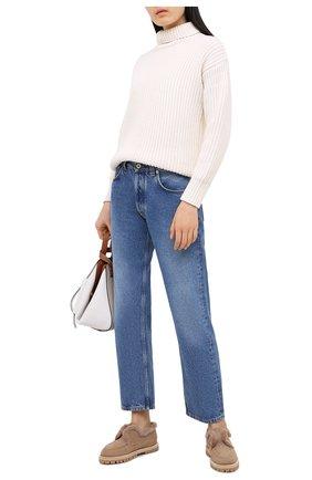 Женские замшевые ботинки LE SILLA бежевого цвета, арт. 6183R020M1LLP0W | Фото 2