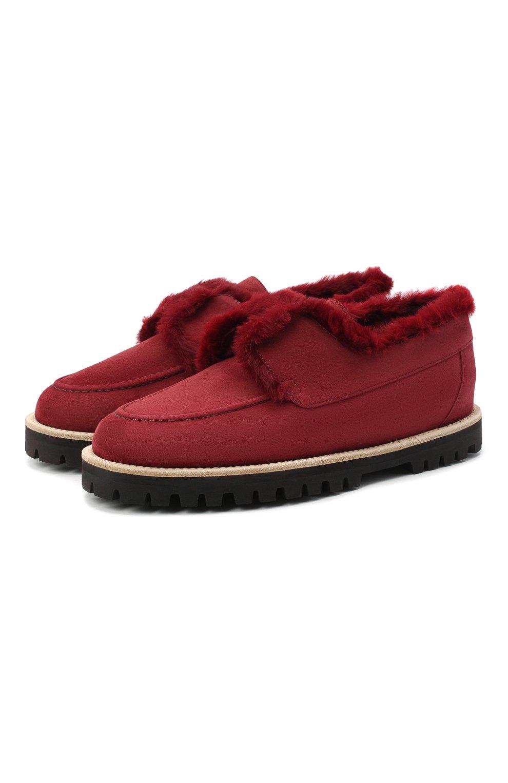 Женские замшевые ботинки LE SILLA бордового цвета, арт. 6183R020M1LLP0W | Фото 1