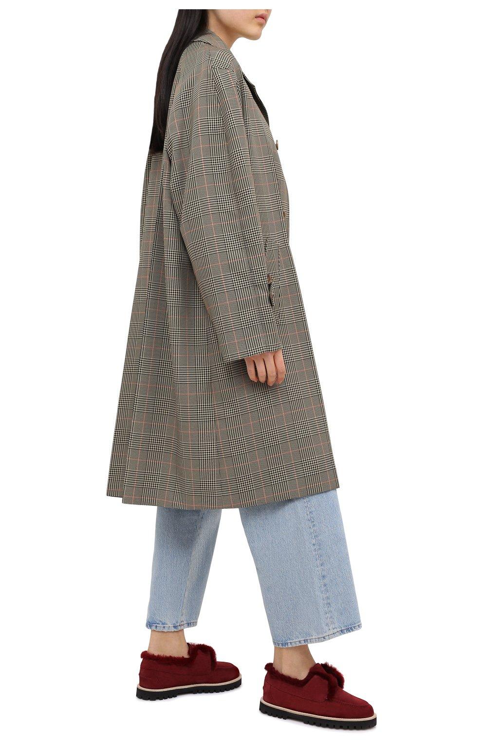 Женские замшевые ботинки LE SILLA бордового цвета, арт. 6183R020M1LLP0W | Фото 2