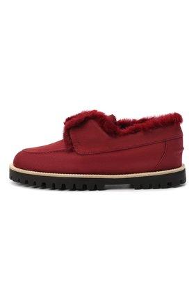 Женские замшевые ботинки LE SILLA бордового цвета, арт. 6183R020M1LLP0W | Фото 3