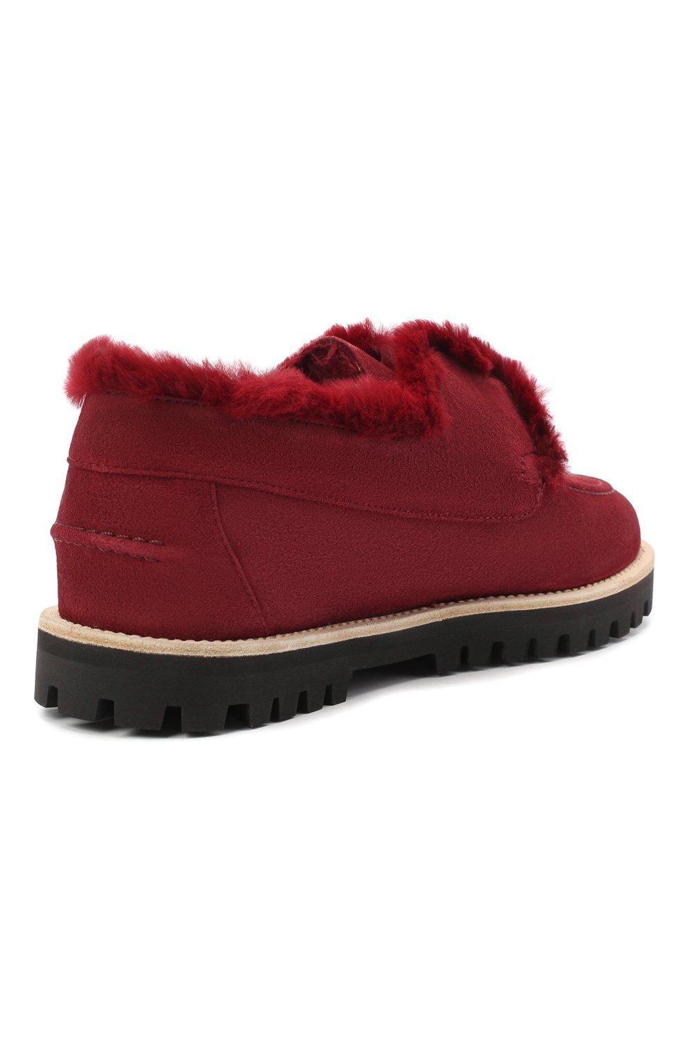 Женские замшевые ботинки LE SILLA бордового цвета, арт. 6183R020M1LLP0W | Фото 4